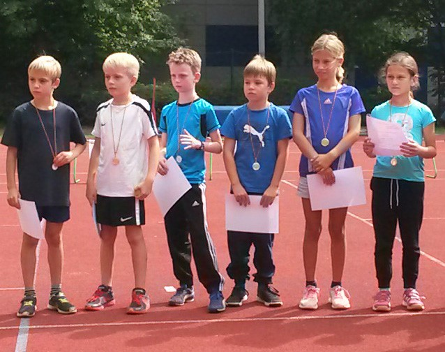 Kinderleichtathletik-Teamwettbewerb in Walluf am 02. September 2017